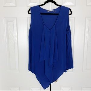 Soft Surroundings Royal Blue Asymmetric Hem Top